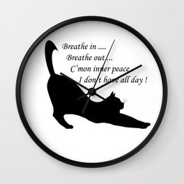When inner peace eludes one Wall Clock
