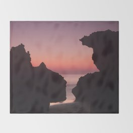 Roche Reefs At Sunset. Throw Blanket
