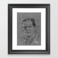 Frankenstein Monster Framed Art Print