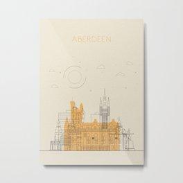 Colorful Skylines: Aberdeen, Scotland Metal Print