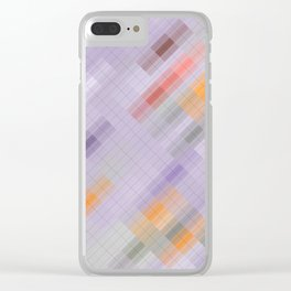 Game room. Abstract gradient art geometric background with soft color tone, cell grid. Ideal for art Clear iPhone Case