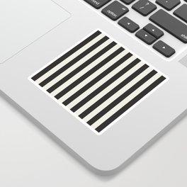 Love stripes (black & cream) Sticker