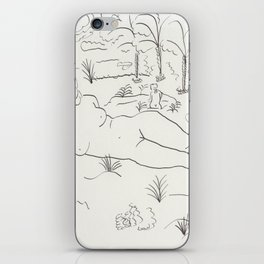 Naked in the Woods iPhone Skin