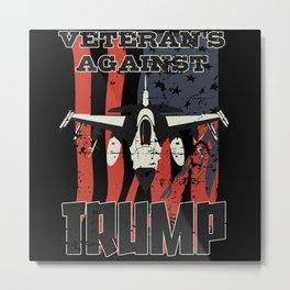 Veterans Against Trump 2020 Metal Print