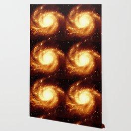 Golden Spiral Galaxy Wallpaper