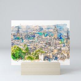 Edinburgh cityscape Mini Art Print