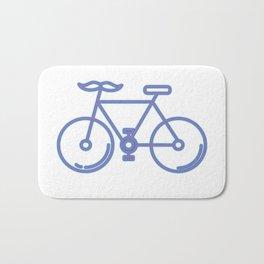 Mustache Bike Bath Mat
