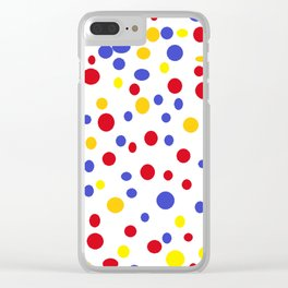 drops of colourful dots Clear iPhone Case
