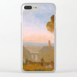 "J.M.W. Turner ""Italian Landscape with Bridge and Tower"" Clear iPhone Case"