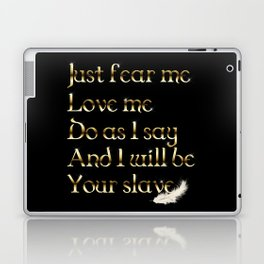Just Fear Me (black bg) Laptop & iPad Skin