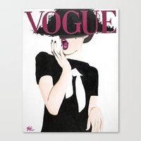 vogue Canvas Prints featuring Vogue by Alexa L. Epstein