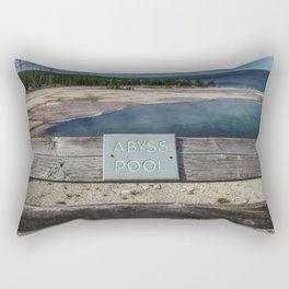 Abyss Pool, West Thumb Geyser Basin, Yellowstone National Park Rectangular Pillow