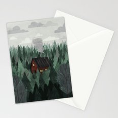 Cottage in the Woods Stationery Cards
