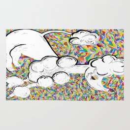 White Poodle Rug