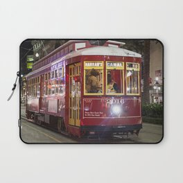 New Orleans Canal Street Car at Night Laptop Sleeve