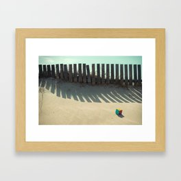 Rubik shading in the beach Framed Art Print