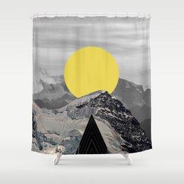 Mountain moon Shower Curtain