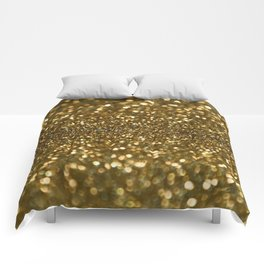 Gold Sparkle Pattern Comforters