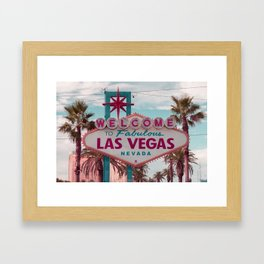 Welcome To Fabulous Las Vegas Nevada Framed Art Print