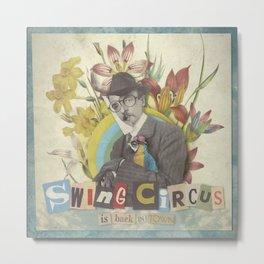 Swing Circus Man Metal Print