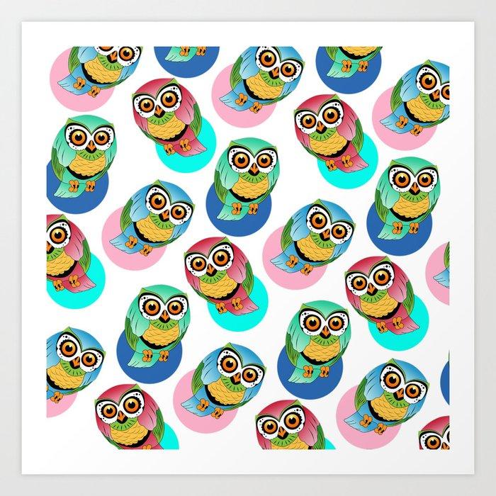 cute birds 2 Art Print