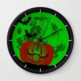 Full Halloween Moon Wall Clock