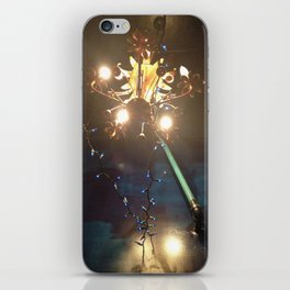 Glowing Flower Chandelier   iPhone Skin