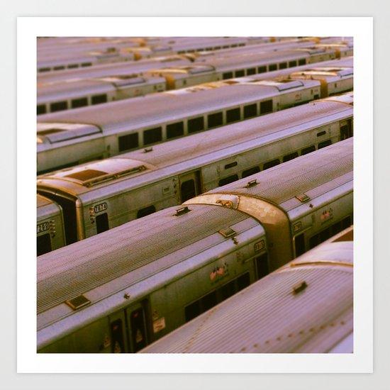 Train Yard Art Print