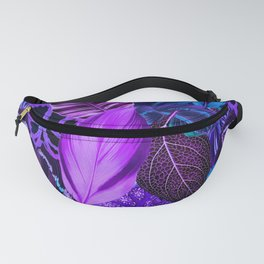 Nana's Wallpaper in Orchid + Blue Fanny Pack