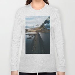Mountain road in Iceland - Landscape Photography Long Sleeve T-shirt