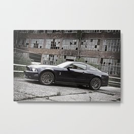 2012 Shelby GT-500 industrial lost place Metal Print