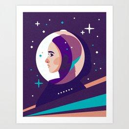 Space Girl Art Print