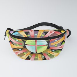 Candy Rainbow Mandala Fanny Pack