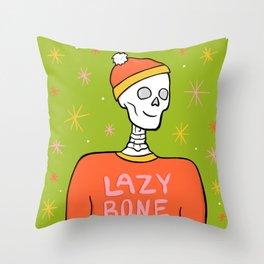 Lazy Bone Throw Pillow