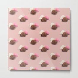 isolated ice cream on pastel pink Metal Print