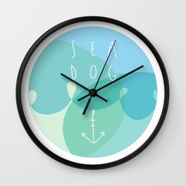 Sea Dog Wall Clock