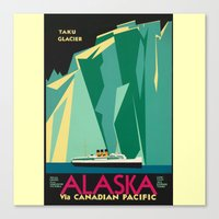 alaska Canvas Prints featuring Alaska by Kathleen Casey