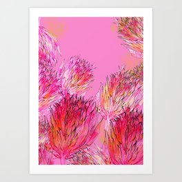 Petal Morpho Floral Art Print