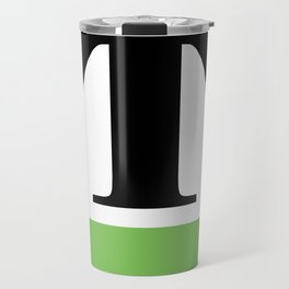 Monogram Letter T (color block) Travel Mug