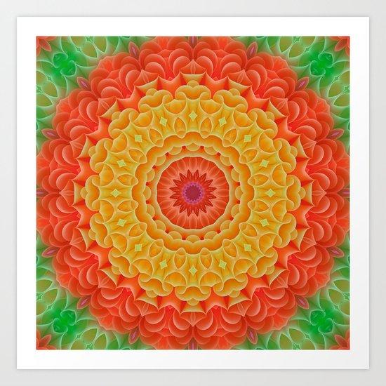 Orange/Yellow/Green K-scope Art Print
