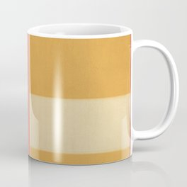 Yellow and Coral Coffee Mug