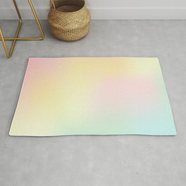 Holographic pastel design Rug