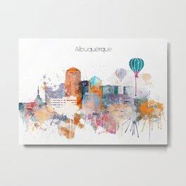 Albuquerque City Skyline Metal Print