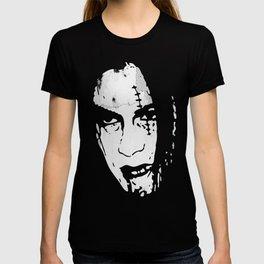 Bloody Scar Face - Cool Horror Grungy T-Shirt Design T-shirt