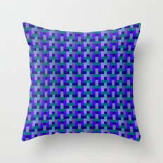 Woven Pixels II Throw Pillow