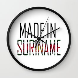 Made In Suriname Wall Clock