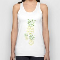 pineapple Tank Tops featuring Pineapple by Tanya Thomas
