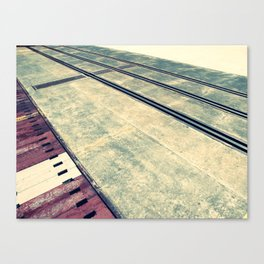 Airplane Hangar Floor 3 Canvas Print
