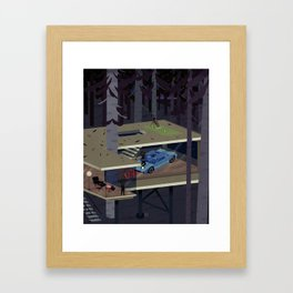 Black Swans 5:47 am Framed Art Print