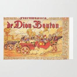 Vintage poster - De Dion Bouton Automobile Rug